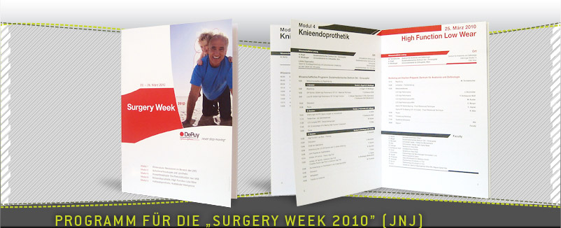Hauptprogramm DePuy Surgery Week 2010
